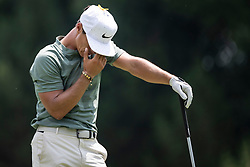 August 5, 2018 - Akron, OH, U.S. - AKRON, OH - AUGUST 05:   Thorbjorn Olesen (DEN) reacts to his shot from the sixth tee during the final round of the World Golf Championships - Bridgestone Invitational on August 5, 2018 at the Firestone Country Club South Course in Akron, Ohio. (Photo by Shelley Lipton/Icon Sportswire) (Credit Image: © Shelley Lipton/Icon SMI via ZUMA Press)
