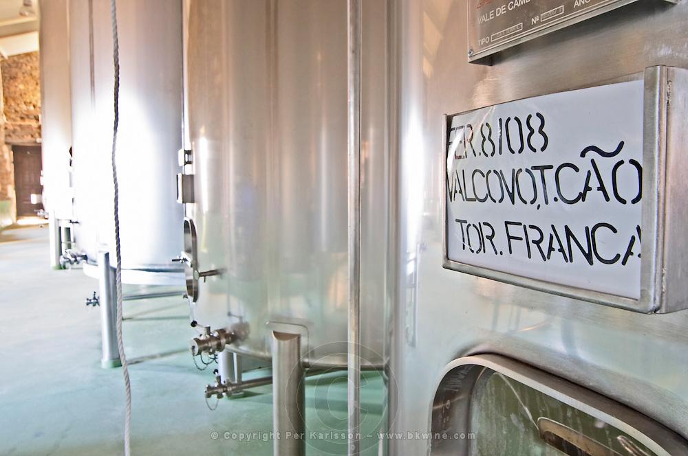 touriga franca sign on tank quinta do cotto douro portugal