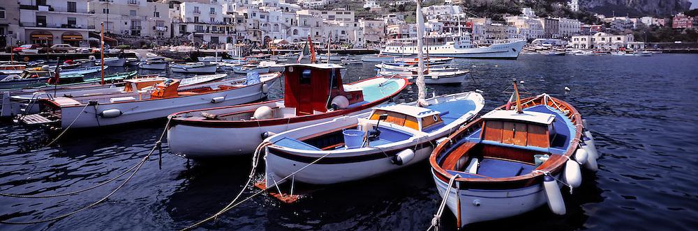 The harbor at Marina Grande, Capri, Italy's is a popular port of call. ©Ric Ergenbright