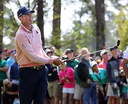 April 6, 2018 - Augusta, GA, USA - Matt Kuchar watches his tee shot on four during the second round of the Masters at Augusta National Golf Club on Friday, April 6, 2018, in Augusta, Ga. (Credit Image: © Curtis Compton/TNS via ZUMA Wire)