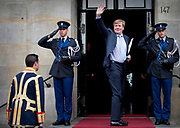 Galadiner voor het Corps Diplomatique in het Koninklijk Paleis in Amsterdam // Gala dinner for the Corps Diplomatique at the Royal Palace in Amsterdam<br /> <br /> Op de foto:  Koning Willem Alexander / King Willem Alexander