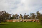 The Dunmore Pineapple on the 8th November 2018 in Airth, Scotland in the United Kingdom. The Dunmore Pineapple is a folly in Dunmore Park, the pineapple shaped building was constructed 1761 by John Murray, 4th Earl of Dunmore.