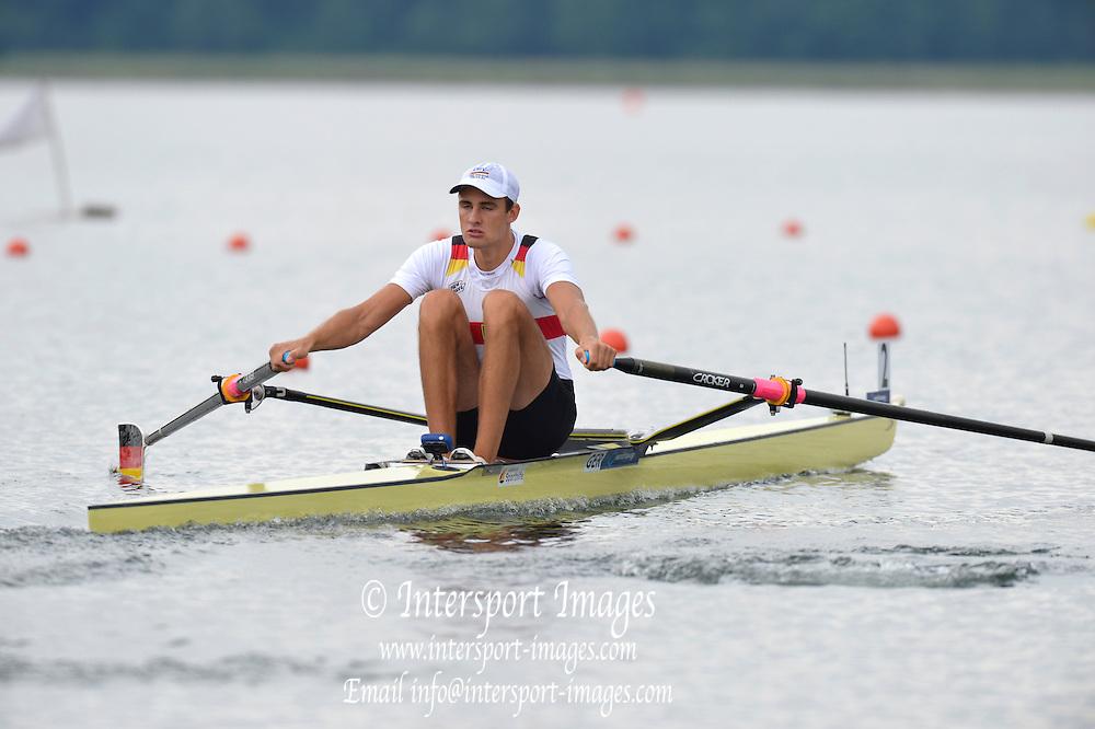 Trackai. LITHUANIA. 2012 FISA U23 Rowing Championships, Lake Galve.   13:14:07 Thursday 12/07/2012 [Mandatory credit: Peter Spurrier/Intersport Images]..Rowing, U23, 2012.