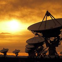 Very Large Array, VLA, world's largest radio telescope, located near Soccoro, New Mexico.