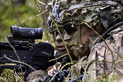 Troopers assigned to 2d Cavalry Regiment seize an objective during a Joint Force Entry (JFE) exercise, in collaboration with NATO allies, to kick off Saber Junction 17 at Hradcany Air Field, Czech Republic, April 29, 2017.