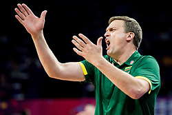 Dainius Adomaitis, head coach of Lithuania during basketball match between National Teams of Lithuania and Greece at Day 10 in Round of 16 of the FIBA EuroBasket 2017 at Sinan Erdem Dome in Istanbul, Turkey on September 9, 2017. Photo by Vid Ponikvar / Sportida