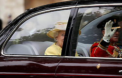 29 April 2011. London, England..Royal wedding day. HRH The Queen and Prince Philip. Royal arrivals at Westminster Abbey..Photo; Charlie Varley.