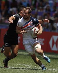 April 8, 2018 - Hong Kong, HONG KONG - Ben Pinkelman (2) of the United States shown against New Zealand during the 2018 Hong Kong Rugby Sevens at Hong Kong Stadium in Hong Kong. (Credit Image: © David McIntyre via ZUMA Wire)
