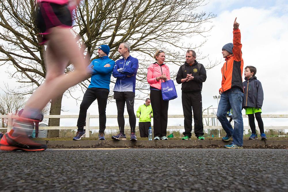 12/03/2017, Bohermeen AC 10k road Race & Half Marathon<br /> Pictured watching the half marathon, L-R, Fergus Sommerville (Dunshaughlin), David McCarthy (Tara), Eimear Hussey (Tara), Paddy Mangan (Dunsgaughlin), Kieran Coyle (Dunshaughlin) & Killian O`Dwyer<br /> David Mullen / www.cyberimages.net<br /> ISO: 200; Shutter: 1/60; Aperture: 11; <br /> File Size: 3.0MB<br /> Actuations: