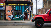 Cameron House on Queen St. West in Toronto, Canada April 14 2014. Mural by John Abrams.