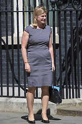 Downing Street, London, July 19th 2016. Education Secretary Justine Greening leaves the first full cabinet meeting since Prime Minister Theresa May took office.