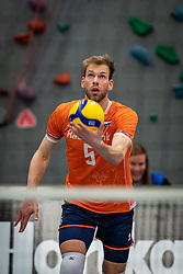 Luuc van der Ent #5 of Netherlands in action during the Olaf Ratterman Memorial match between Netherlands vs. Eredivisie All Star team on May 03, 2021 in Barneveld.