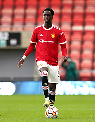 Manchester United's Bjorn Hardley during the UEFA Youth League, Group F match at Leigh Sports Village, Manchester. Picture date: Wednesday September 29, 2021.