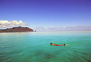 Snorkeling, Kaneohe Bay, Oahu, Hawaii