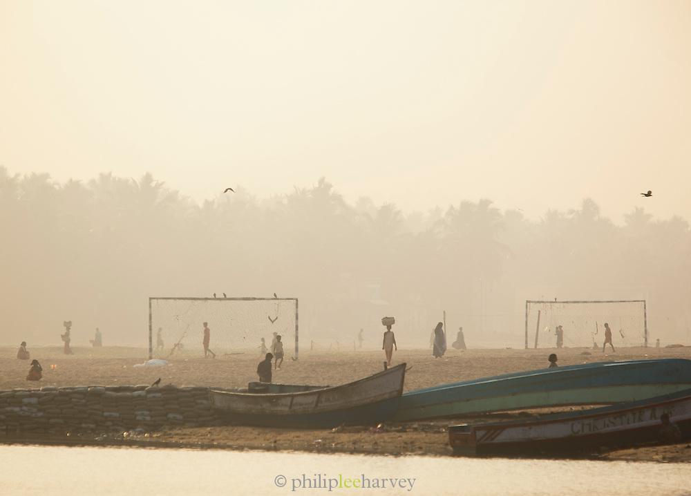 Early moring on Poovar Beach, near Trivandrum (Thiruvananthapuram), Kerala, India