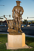 David Alan Clark's Milpitas Minute Man sculpture outside Milpitas City Hall in Milpitas, California, photographed on March 12, 2014. (Stan Olszewski/SOSKIphoto)