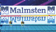 Venues Sponsor<br /> Malmstem<br /> - (white cap) vs  -(blue cap)<br /> LEN Champions League Ostia<br /> Polo Natatorio Freccia Rossa <br /> Ostia, Italy ITA <br /> Photo © G. Scala/Deepbluemedia