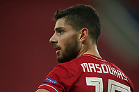 PIRAEUS, GREECE - OCTOBER 21: Giorgos Masouras of Olympiacos FC during the UEFA Champions League Group C stage match between Olympiacos FC and Olympique de Marseille at Karaiskakis Stadium on October 21, 2020 in Piraeus, Greece. (Photo by MB Media)