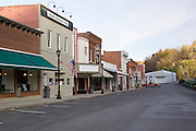 Missouri MO USA, main street, New Haven, MO on the banks of the Missouri river October 2006