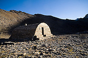 Refugio Vivac de la Caldera at the base of Mulhacen, Sierra Nevada National Park, Andalusia, Spain.