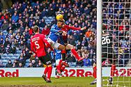 Rangers substitute Jermain Defoe during the Ladbrokes Scottish Premiership match between Rangers and Kilmarnock at Ibrox, Glasgow, Scotland on 16 March 2019.