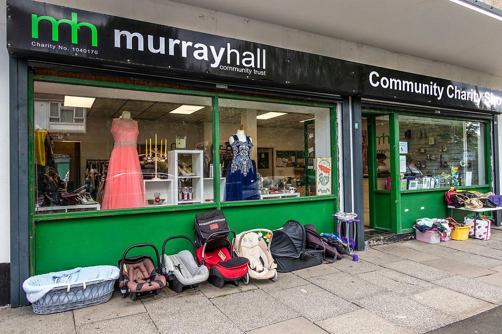 Community Charity shop in Tipton, northwest of Birmingham, West Midlands, UK.