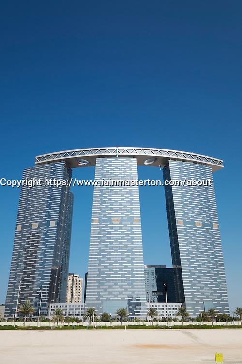 Modern high-rise residential Gate Tower on Al Reem Island in Abu Dhabi United Arab Emirates