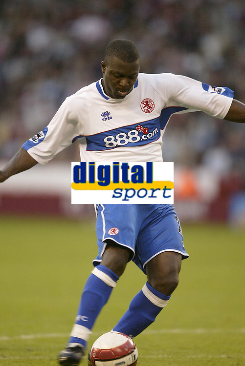 Photo: Aidan Ellis.<br /> Sheffield United v Middlesbrough. The Barclays Premiership. 30/09/2006.<br /> Boro's Yakubu scores the equaliser