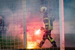 Firefighter during football match between NK Maribor and NŠ Mura in 13th Round of Prva liga Telekom Slovenije 2019/20, on October 5, 2019 in Ljudski Vrt, Maribor, Slovenia. Photo by Blaž Weindorfer / Sportida