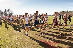 New England High School XC Championship, start of boys race, Feinstein, Holt-Andrews