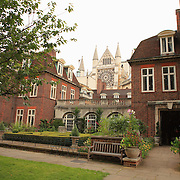 Westminster Abbey Central Courtyard - London, UK