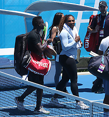 Serena Williams and Roger Federer training session in Perth - 30 Dec 2018