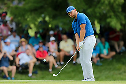 August 9, 2018 - St. Louis, Missouri, United States - Jordan Smith chips on to the 6th green during the first round of the 100th PGA Championship at Bellerive Country Club. (Credit Image: © Debby Wong via ZUMA Wire)