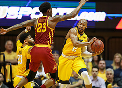 Feb 24, 2018; Morgantown, WV, USA; West Virginia Mountaineers guard Jevon Carter (2) grabs a rebound during the second half against the Iowa State Cyclones at WVU Coliseum. Mandatory Credit: Ben Queen-USA TODAY Sports