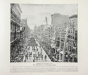 """View of Fifth Avenue New York Grant's Funeral from The American Civil War book and Grant album : """"art immortelles"""" : a portfolio of half-tone reproductions from rare and costly photographs designed to perpetuate the memory of General Ulysses S. Grant, depicting scenes and incidents in connection with the Civil War Published  in Boston and New York by W. H. Allen in 1894"""
