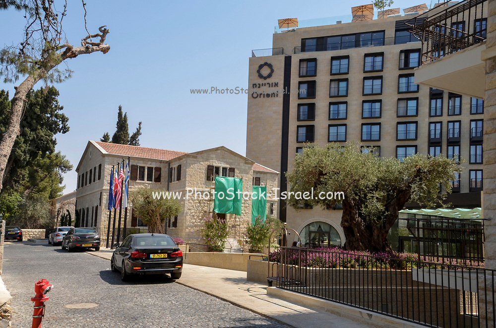 Exterior of the Orient Hotel (Operated by Isrotel) located at 3 Emek Refaim street in the German Colony, Jerusalem, Israel