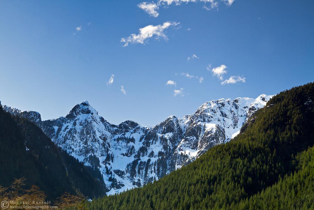 Blanshard and Edge Peaks at Golden Ears Provincial Park in Maple Ridge, British Columbia, Canada