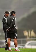 Hurricanes coaches Colin Cooper and Alama Ieremia.<br /> Super 14 - Hurricanes training session, at Rugby League Park, Newtown, Wellington. Tuesday, 28 April 2009. Photo: Dave Lintott/PHOTOSPORT