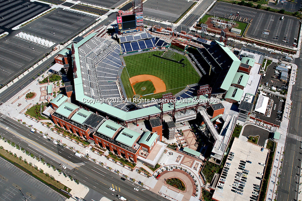 Aerial view of Citizens Bank Park, home of the Philadelphia Phillies.