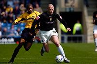 Photo: Alan Crowhurst.<br />Oxford United v Northampton Town. Coca Cola League 2. 22/04/2006. Josh Low (R) attacks for Northampton.