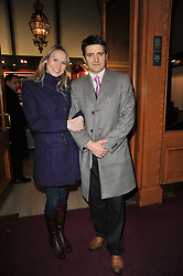 TOM CHAMBERS and his wife CLARE HARDING at the opening night of Totem by Cirque du Soleil held at The Royal Albert Hall, London on 5th January 2011.