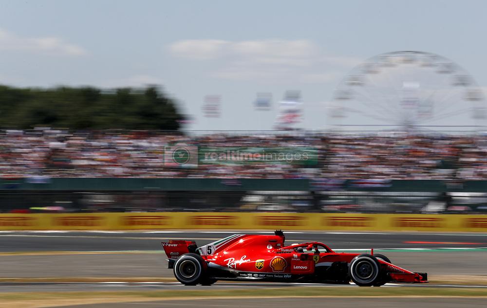 July 8, 2018 - Silverstone, Great Britain - Motorsports: FIA Formula One World Championship 2018, Grand Prix of Great Britain, .#5 Sebastian Vettel (GER, Scuderia Ferrari) (Credit Image: © Hoch Zwei via ZUMA Wire)