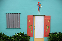 October 7, 2016 - Florida, U.S. - Hurricane protection on a building on Lucerne Avenue in Lake Worth Friday, October 7, 2016. (Credit Image: © Bruce R. Bennett/The Palm Beach Post via ZUMA Wire)