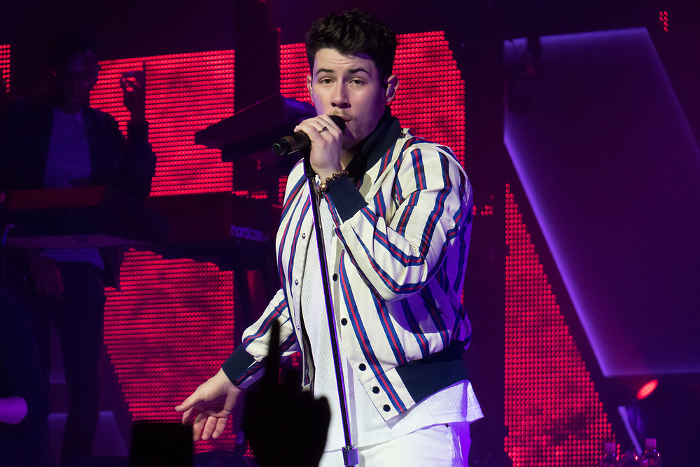 The Jonas Brothers perform at the Armory in Minneapolis for the March Madness Music Series on April 6, 2019.