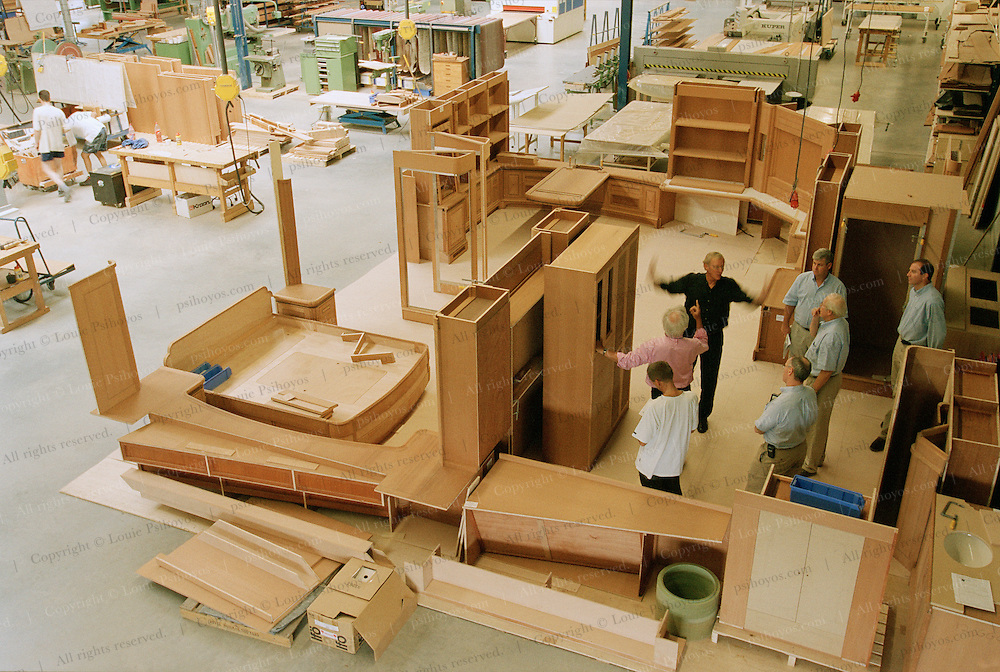 Woodworking shop for Athena, a three masted schooner, built by the Royal Huisman Shipyard of Vollenhove, Holland.
