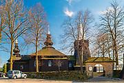 Parafialna cerkiew  greckokatolicka św. Michała Archanioła w Brunarach Wyżnych.<br /> Parochial Greek Catholic Church of Sts. Archangel Michael in Brunarach Wyżnych.