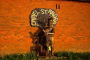 A084JD Capel St Andrew Suffolk - Saint Andrew sculpture- England