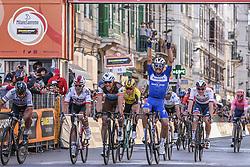 March 23, 2019 - Sanremo, Sanremo, Italia - Foto LaPresse/Marco Alpozzi.23/03/2018 Sanremo (Italia) .Sport Ciclismo.Milano-Sanremo 2019 - edizione 110 - da Milano a Sanremo (291 km) .Nella foto:Allestimenti Arrivo - Podio e bottiglie  Julian Alaphilippe (Deceuninck - Quick-Step) vince ..Photo LaPresse/Marco Alpozzi.March 23, 2018 Sanremo (Italy).Sport Cycling.Tirreno-Adriatico 2019 - edition 110 - Milano to Sanremo (182 miles) .In the pic: Julian Alaphilippe  (Credit Image: © Marco Alpozzi/Lapresse via ZUMA Press)