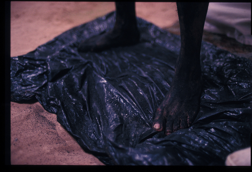 Blackened body of Paul Keams.