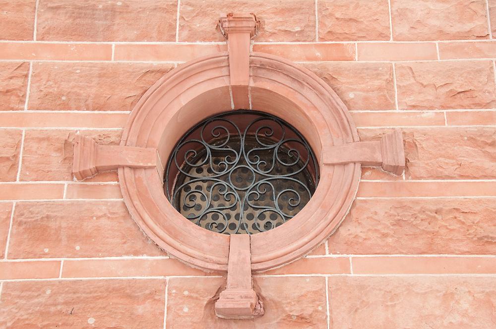 Detail of downtown buildings in Calumet Michigan.